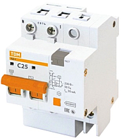 Дифференциальный автомат TDM АД-2-2Р-25А-30мА / SQ0221-0002 -