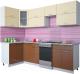 Готовая кухня Интерлиния Мила Gloss 50-12x26 (ваниль/шоколад глянец) -