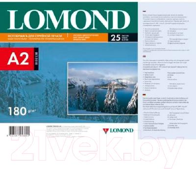 Фотобумага Lomond A2, 180 г/м, 25 л. / 0102138 (матовая)