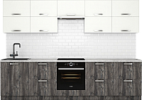 Готовая кухня Хоум Лайн Монако 3.0 (сосна пасадена/белый глянец) -