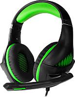 Наушники-гарнитура Crown CMGH-2002 (черный/зеленый) -
