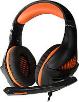 Наушники-гарнитура Crown CMGH-2003 (черный/оранжевый) -