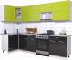 Готовая кухня Интерлиния Мила Gloss 60-12x29 (яблоко/черный глянец) -