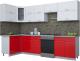 Готовая кухня Интерлиния Мила Gloss 60-12x30 (белый/красный глянец) -