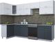Готовая кухня Интерлиния Мила Gloss 60-12x30 (белый/асфальт глянец) -