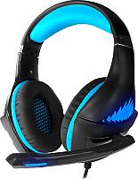 Наушники-гарнитура Crown CMGH-2101 (черный/синий) -
