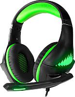Наушники-гарнитура Crown CMGH-2102 (черный/зеленый) -