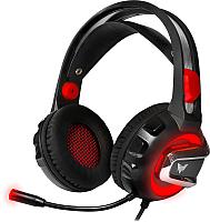 Наушники-гарнитура Crown CMGH-3100 (черный/красный) -