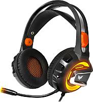 Наушники-гарнитура Crown CMGH-3103 (черный/оранжевый) -