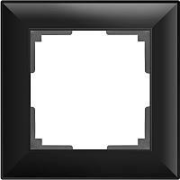 Рамка для выключателя Werkel WL14-Frame-01 / a038841 (черный матовый) -