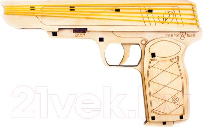 Сборная игрушка Woody Пистолет стреляет резинками / 02512