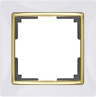 Рамка для выключателя Werkel WL03-Frame-01 / a035252 (белый/золото) -