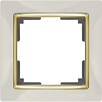 Рамка для выключателя Werkel WL03-Frame-01 / a035247 (слоновая кость/золото) -