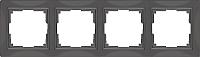 Рамка для выключателя Werkel Basic WL03-Frame-04 / a036701 (серо-коричневый) -