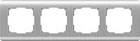 Рамка для выключателя Werkel WL12-Frame-04 / а034329 (серебряный) -