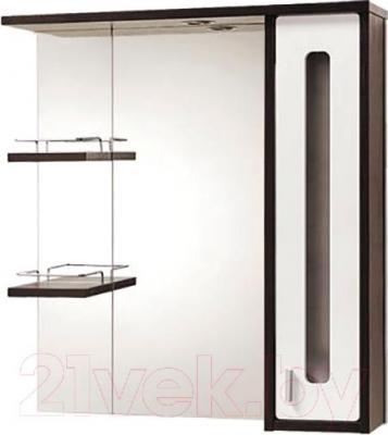 Шкаф с зеркалом для ванной Акваль Бали 75 / БАЛИ.04.75.02.R