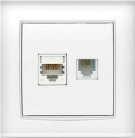 Розетка Universal Бриллиант 7947618 (белый) -