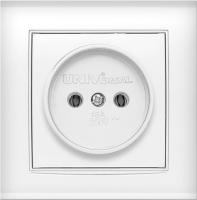 Розетка Universal Бриллиант 7947588 (белый) -
