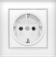 Розетка Universal Бриллиант 7947625 (белый) -