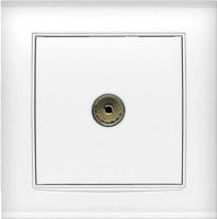 Розетка Universal Бриллиант 7947571 (белый) -