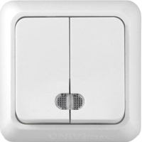 Выключатель Universal Олимп O0123 (белый) -