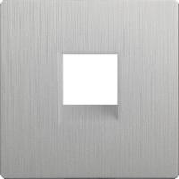Лицевая панель для розетки Werkel WL09-RJ-11-CP / a041448 (серебряный рифленый) -