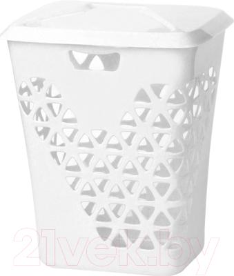 Корзина для белья Idea Венеция / М2606 (60л, белый)