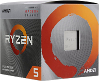 Процессор AMD Ryzen 5 3400G Box / YD3400C5FHBOX -