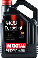 Моторное масло Motul 4100 Turbolight 10W40 / 109462 (4л) -