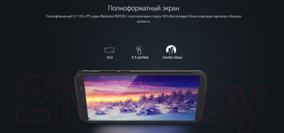 Смартфон Blackview BV5500 (черный)