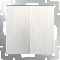 Выключатель Werkel WL13-SW-2G / a040884 (перламутровый рифленый) -