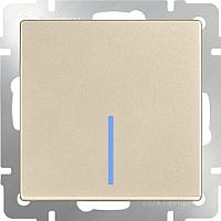 Выключатель Werkel WL11-SW-1G-2W-LED / a040917 (шампань) -