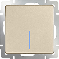 Выключатель Werkel WL11-SW-1G-LED / a040919 (шампань) -