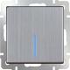 Выключатель Werkel WL02-SW-1G-2W-LED / a030791 (глянцевый никель) -