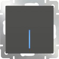 Выключатель Werkel WL07-SW-1G-LED / a029870 (серо-коричневый) -