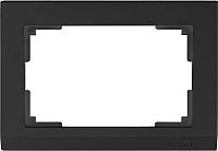 Рамка для выключателя Werkel WL04-Frame-01-DBL / a040285 (черный) -