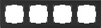 Рамка для выключателя Werkel WL04-Frame-04 / a029217 (черный) -