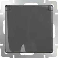 Розетка Werkel WL07-SKGSC-01-IP44 / a029864 (серо-коричневый) -
