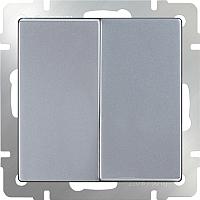 Выключатель Werkel WL06-SW-2G-2W / a029823 (серебряный) -