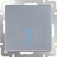 Выключатель Werkel WL06-SW-1G-LED / a029824 (серебряный) -