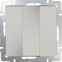 Выключатель Werkel WL06-SW-3G / a033751 (серебряный) -
