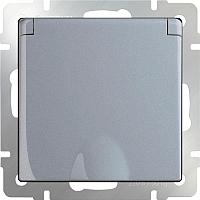Розетка Werkel WL06-SKGSC-01-IP44 / a029832 (серебристый) -