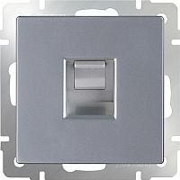 Розетка Werkel WL06-RJ-11 / a029833 (серебристый) -