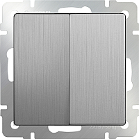 Выключатель Werkel WL09-SW-2G-2W / a035656 (cеребряный) -