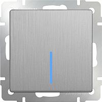 Выключатель Werkel WL09-SW-1G-2W-LED / a035653 (серебряный рифленый) -