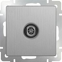 Розетка Werkel WL09-TV / a035658 (cеребряный рифленый) -
