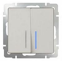Выключатель Werkel WL03-SW-2G-LED / a030807 (слоновая кость) -