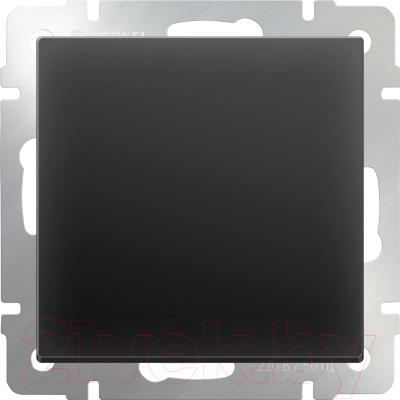 Выключатель Werkel WL08-SW-1G / a029851 (черный матовый)