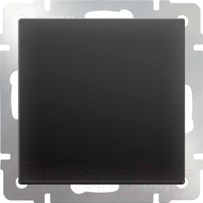 Выключатель Werkel WL08-SW-1G-2W / a029867 (черный матовый)