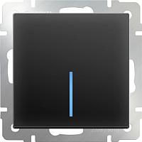 Выключатель Werkel WL08-SW-1G-2W-LED / a029868 (черный матовый) -